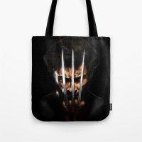 x men Tote Bags featuring x men by Fila Venom Art