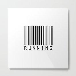 Barcode - Running  Metal Print