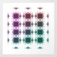 Kaleido-Squares Art Print