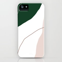 Modern minimal abstract geometric pastel colors iPhone Case