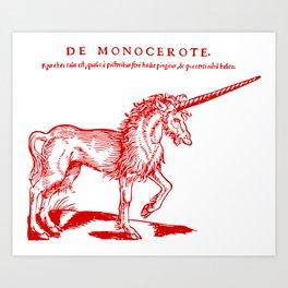 Monocerus Art Print