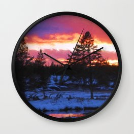 Norris Sunset Wall Clock