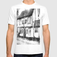 The Coopers Arms Pub Rochester Vintage White MEDIUM Mens Fitted Tee