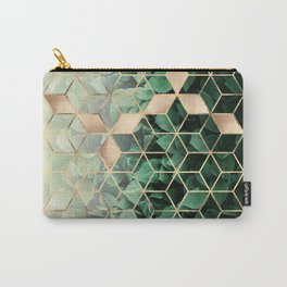 Leaves And Cubes Carry-All Pouch