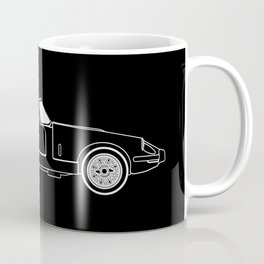 Classic Super Fast Sports Car Outline Coffee Mug