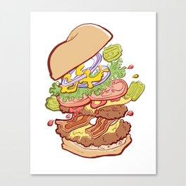 Hamburger Time Canvas Print