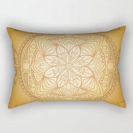 Gold Sun Mandala Rectangular Pillow