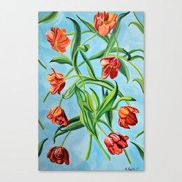 Happy Tulips Canvas Print