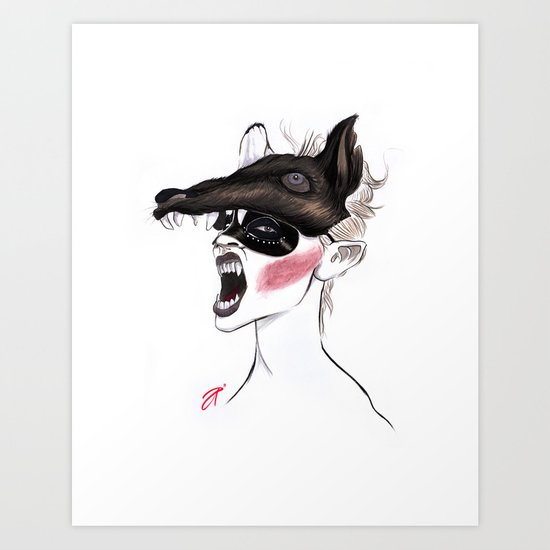 The Masquerade: The Wolf Art Print