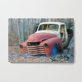 Junk Car Metal Print