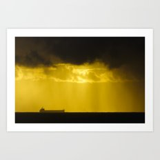 Ships In A Storm Art Print