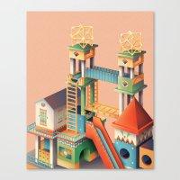 escher Canvas Prints featuring Escher playground  by Chiara Vercesi