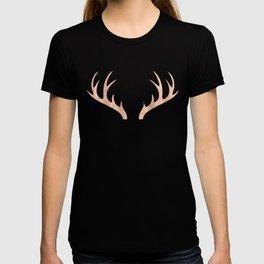 Antlers Rose Gold Deer Antlers T-shirt