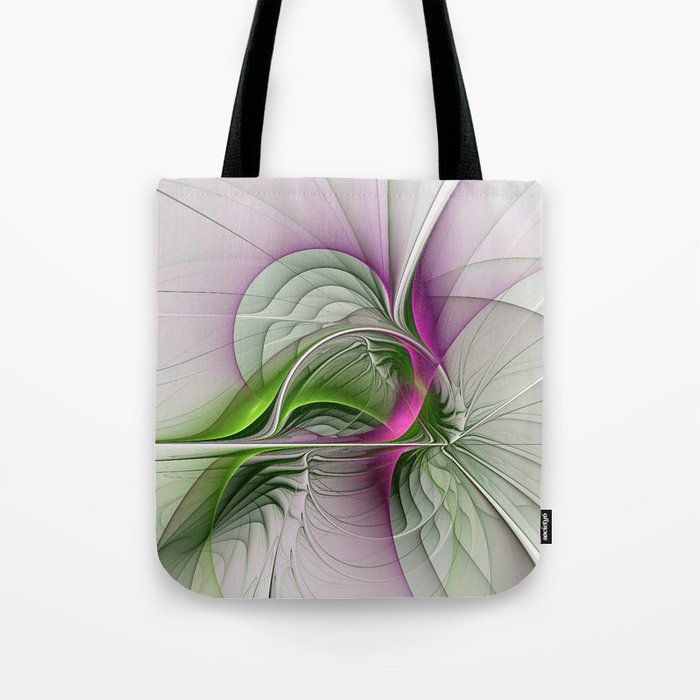 Wild Beauty, Abstract Fractal Art Tote Bag