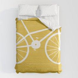 Yellow Bike by Friztin Duvet Cover