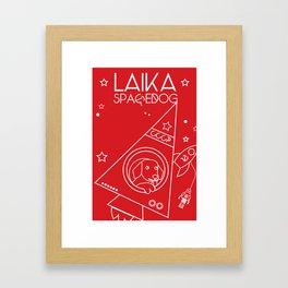 LAIKA Spacedog Framed Art Print