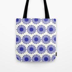 vintage flowers blue  Tote Bag