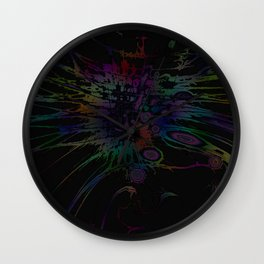 Coloring Spatter Wall Clock