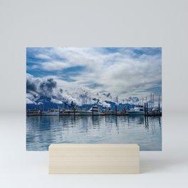 Seward Boat Harbor, Alaska Mini Art Print