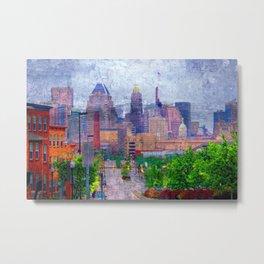 Baltimore Skyline from Orleans Street, Baltimore, Maryland  Metal Print