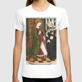 Kneeling in Adoration before Saint Agnes T-shirt