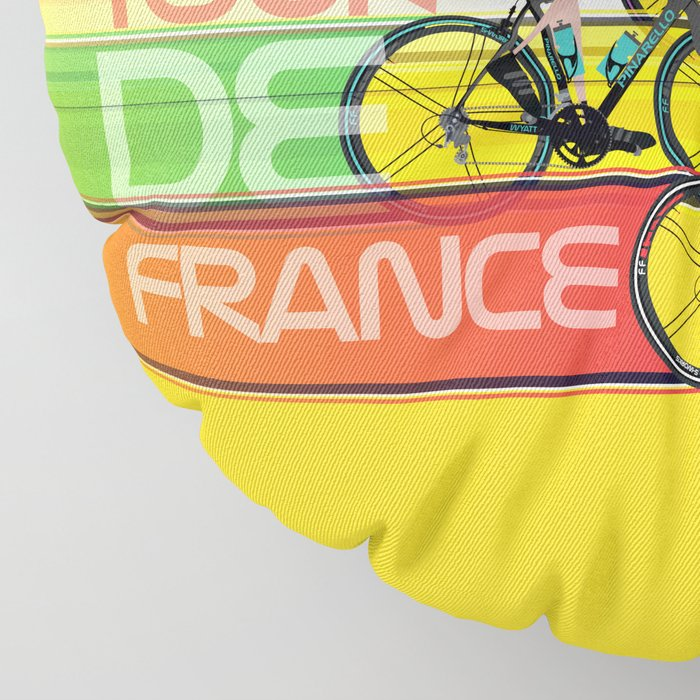 Tour De France Floor Pillow