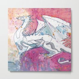 Sunrise Dragon Metal Print