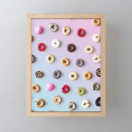Colorful Donuts Framed Mini Art Print