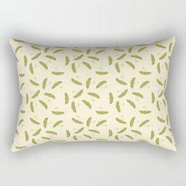 Edamame pattern with a beige background Rectangular Pillow