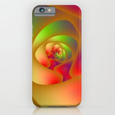 Green and Red Spiral Labyrinth Slim Case iPhone 6