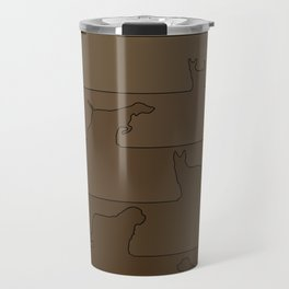 Brown Dog Ombre Travel Mug