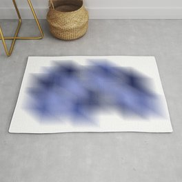 Cool Cube Abstract Optical Illusion - Watercolor Digital Artwork Rug
