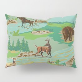Paint by Number Woodland Animals Pillow Sham