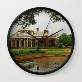 Morning At Monticello - Jeffersons Home Wall Clock