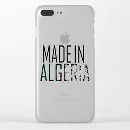 Made In Algeria Clear iPhone Case