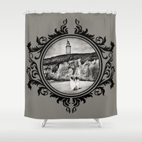 destiny Shower Curtains featuring Destiny by Legend Factory