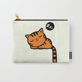 Cute sleeping kitten doodle Carry-All Pouch