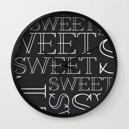 Sweet Type Wall Clock