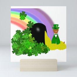 Oliver Finds A Pot Of Gold - Saint Patrick's Day Mini Art Print