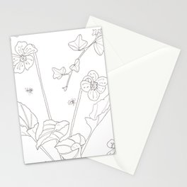 Flora of Friendship - Color or Paint Your Own! Stationery Cards