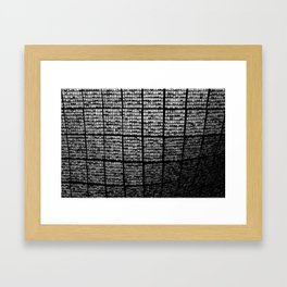One in a million B/W Framed Art Print