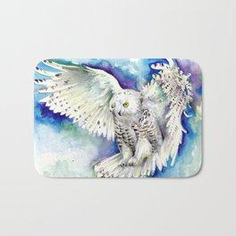 White Polar Owl - Wizard Dynamic White Owl Bath Mat