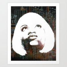 Blonde Diva Art Print