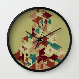 Bunch of shapes Wall Clock