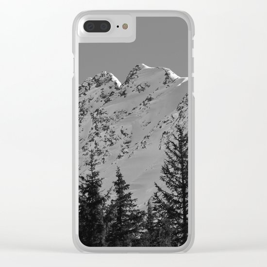 Gwin's Winter Vista - B & W Clear iPhone Case