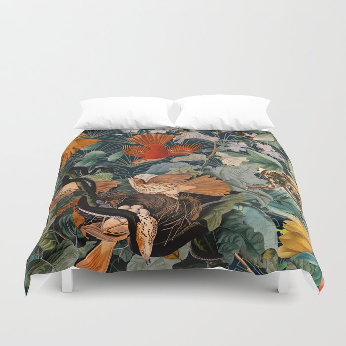 Birds and snakes Duvet Cover