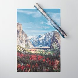 Tunnel View Yosemite Valley Wrapping Paper