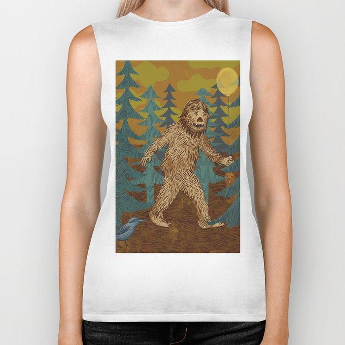 Bigfoot birthday card Biker Tank