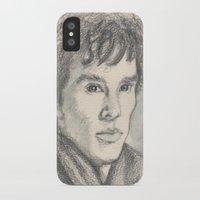 sherlock iPhone & iPod Cases featuring Sherlock by Pendientera