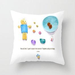Bluebird of Happiness Throw Pillow